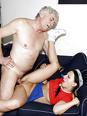 Horny guy loves banging the much younger maid