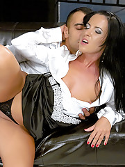Fetish loving girl shagging a clothed dude