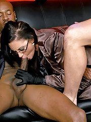 Sexy babe nailed by two horny dudes at once