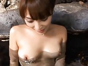 Kokomi Sakura Asian exposes love box and juicy tits inside water