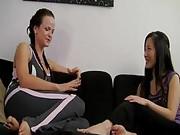 Janessa and Suki are winding down after yoga class when Suki drops a bomb: she has been helping out lonely girls with their sexual frustration by lending them her boyfriend.