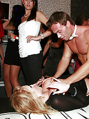 Crazy party chicks nailed by guys at a bar