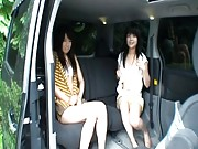 Chiwa Osaki strips for the camera in the back of a van