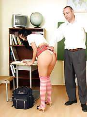 Horny teacher eating his soaked student pussy