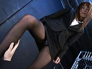 Yua Kisaki Asian is all tied in chains for being such a bitch