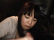 Nana Ayase Asian receives cock in mouth for her strong blowjob