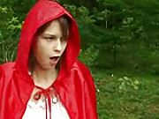 Big bad wolf fucks a cute surprised teenager