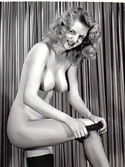 Classic beauties with large boobs in fifties
