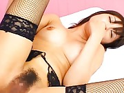 Ryo Akanishi Asian has boobs in bra kissed and hairy cunt rubbed