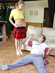 Horny much older senior banging a schoolgirl