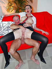 British sweetheart fucked by a very old dude