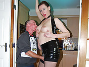 Pretty old dude boning a much younger chick