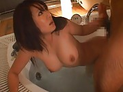 Minori Hatsune Asian has pussy licked and doggy fucked in jacuzzi