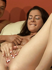 Peyton has only just begun to experience her power of squirting and what better way to practice then to cum on Squirt Hunter.
