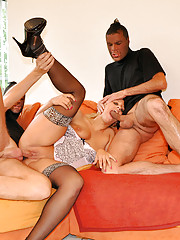 Cute girl nailed by secret dudes at same time