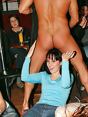 Crazy teenage girls nailed by hot strippers