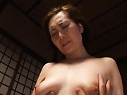 Mina Toujou Asian has boobies squeezed while is roughly screwed