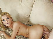 Blonde Coed Squirts When She Cums