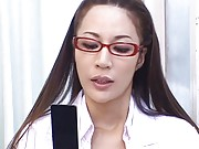 Anri Suzuki Asian doctor takes clothes off in front of patient