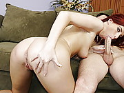Cute Redhead Takes Whopper In Her Ass