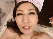 JULIA Asian nurse with huge titties gets cunt in deeply frigging