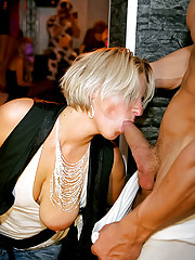 Hot girls sucking and fucking sexy strippers
