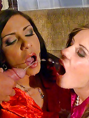 Pipe smoking horny chicks nailed by two dudes