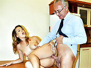 A horny british senior gentleman penetrating