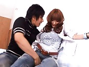 Kirara Asuka Asian is rubbed between legs over jeans by horny man