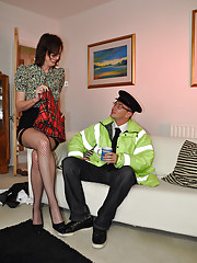 Very handsome nude babe fucked hard by a cop