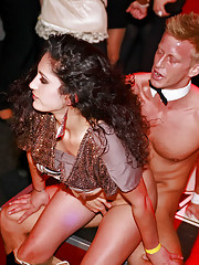 Horny fetish hotties shagging male strippers