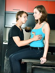 A very cute teenager railed hard by friend