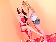 Lesbian dildo lovers like getting cunt licked