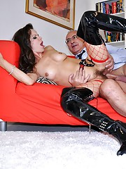 Girl playing with a british boner in mouth