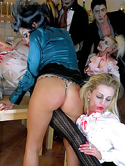 Zombie porn stars screwing large solid penis
