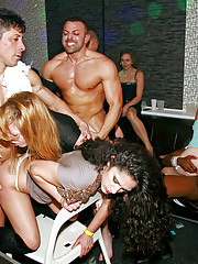 Intoxicated horny babes screwing dancing guys