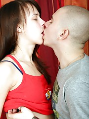 Invading her tight teenage snatch with cock