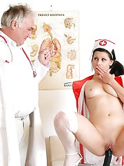 Female doctor fucked hard by her own patient