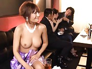 Kirara Asuka Asian is doggy fucked under dress at public dinner
