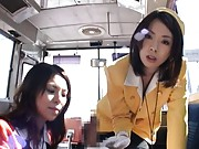 Rino Asuka Asian and another sexy guide suck traveller phallus