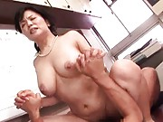 Miki Sato Asian busty has her experienced pussy screwed by hunk