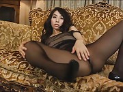 Yuka Osawa Asian shows juicy knockers and butt in nylon outfit