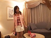 Marin Minami Asian with big boobs is touched over new lingerie