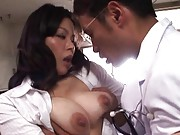 Miki Sato Asian feels slit wet as she has her big melons licked