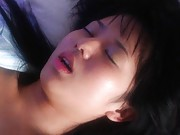 Sora Aoi Asian with sexy pink lips plays with her big naughty ass
