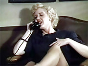 Aunt Peg rubbing her hairy pussy on the phone