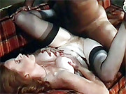 Redhead slut gets her hair pulled and fucked