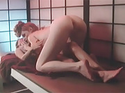 Two very sexy girls in the sauna love kissing