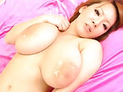 Hitomi Tanaka Asian has huge knockers full of sperm after screw