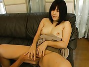 Minami Yoshizawa with hot jugs has vagina licked and fingered